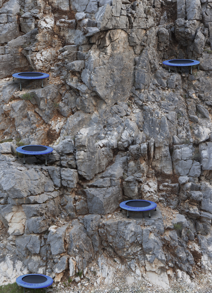 Mountain trampoline